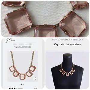 J.Crew Crystal Cube Necklace -Heather Quartz Color